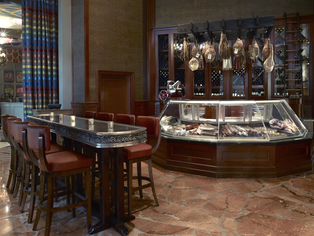 HAM BAR - Uniquely Southern, our one-of-a-kind Ham Bar offers superb regional hams and house-cured meats and charcuteries.