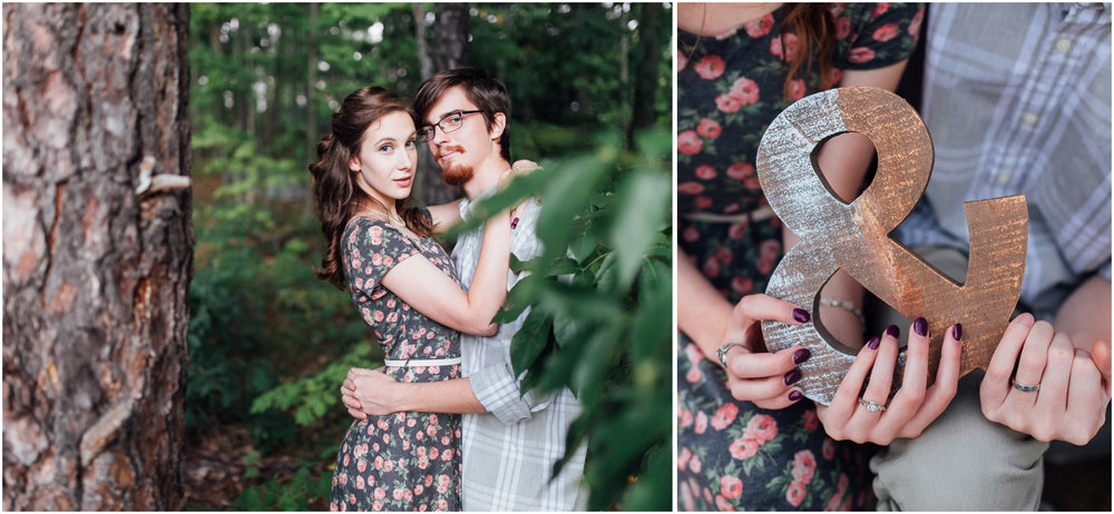Cute sunset engagement photography in Merrimack, New Hampshire