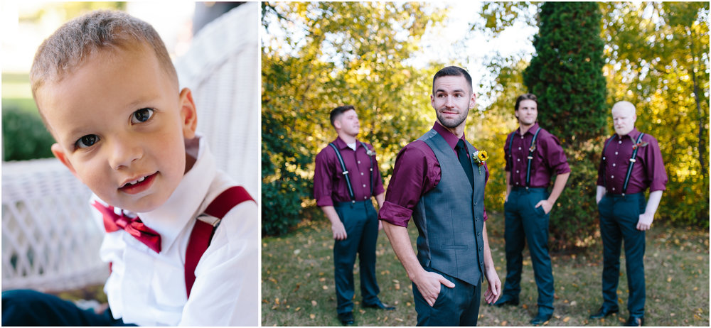 Ashleigh Laureen Photography Journalistic Fall Wedding in Hooksett, New Hampshire, Groom and Groomsmen