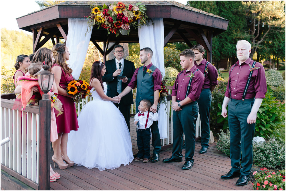 Ashleigh Laureen Photography Journalistic Fall Wedding in Hooksett, New Hampshire, Bride and Groom Ceremony