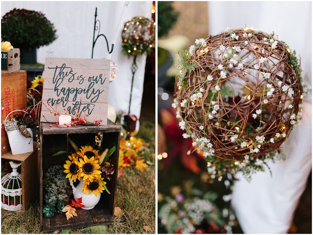 Ashleigh Laureen Photography Journalistic Fall Wedding in Hooksett, New Hampshire, Reception Details
