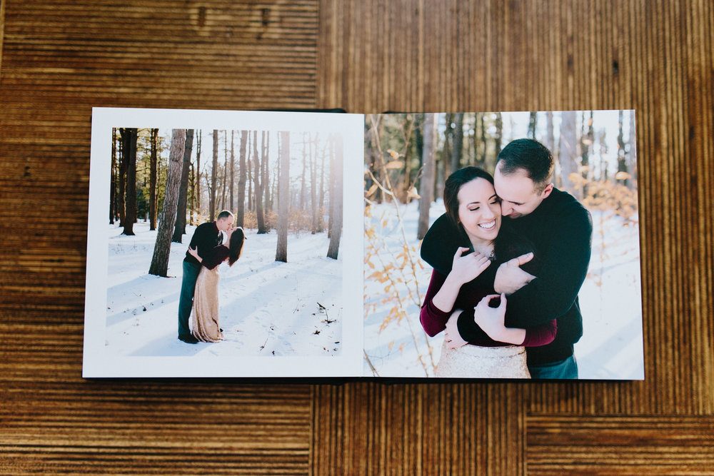 Ashleigh Laureen Photography New Hampshire Engagement Little Leather Black Book