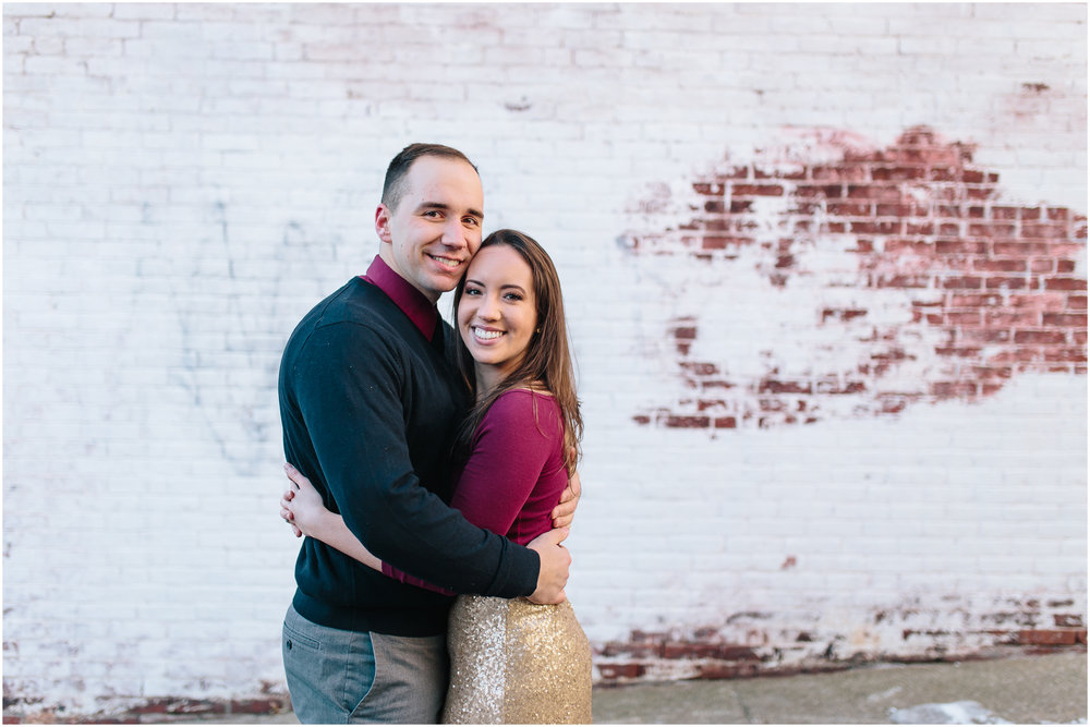 Classy winter engagement in downtown Concord, New Hampshire