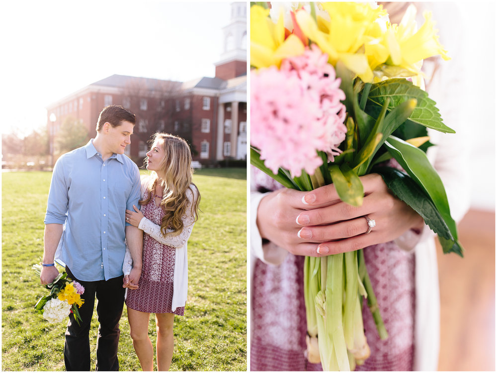 Ashleigh Laureen Photography Journalistic Lifestyle Engagement at Boyce College in Louisville, Kentucky, Diamond Ring
