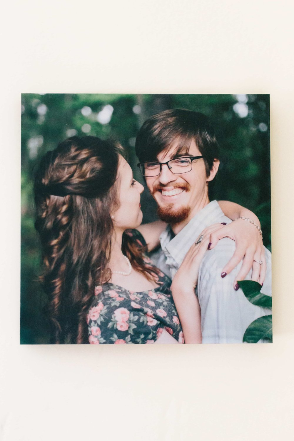Ashleigh Laureen Photography New Hampshire Engagement Print Block Wall Art