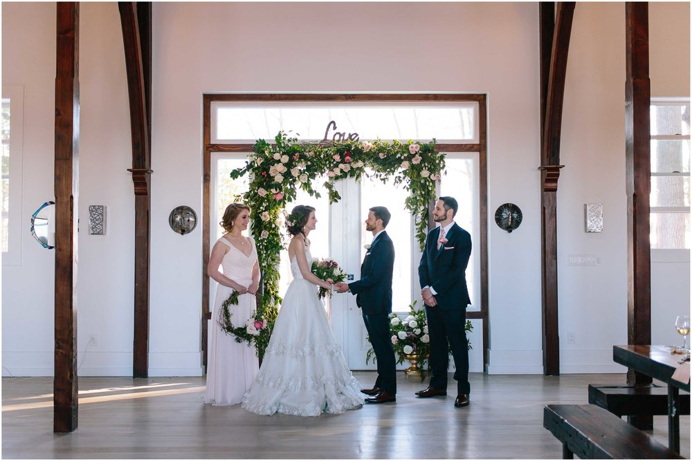 Intimate and romantic styled wedding photography in Lee, Massachusetts in the Berkshires - ceremony, wedding party