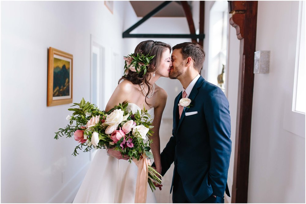 Intimate and romantic styled wedding photography in Lee, Massachusetts in the Berkshires - bride and groom