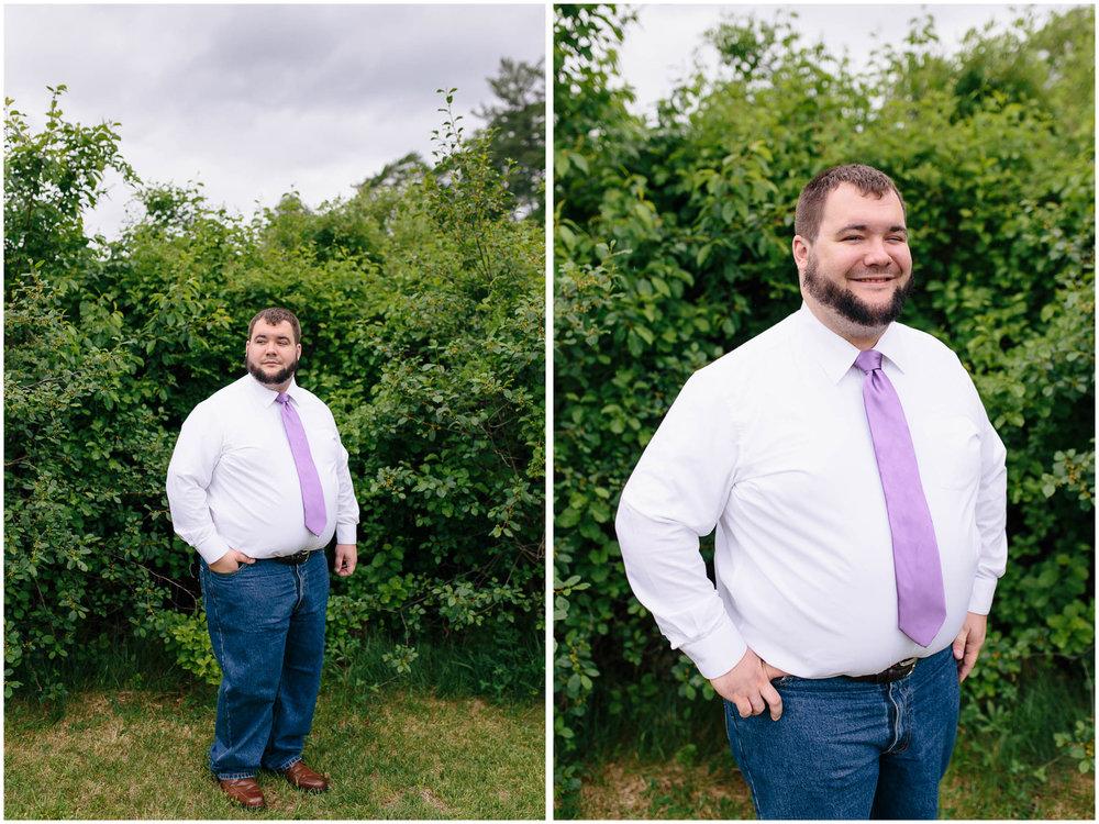 Charming Massachusetts countryside journalistic wedding by Ashleigh Laureen Photography - groom