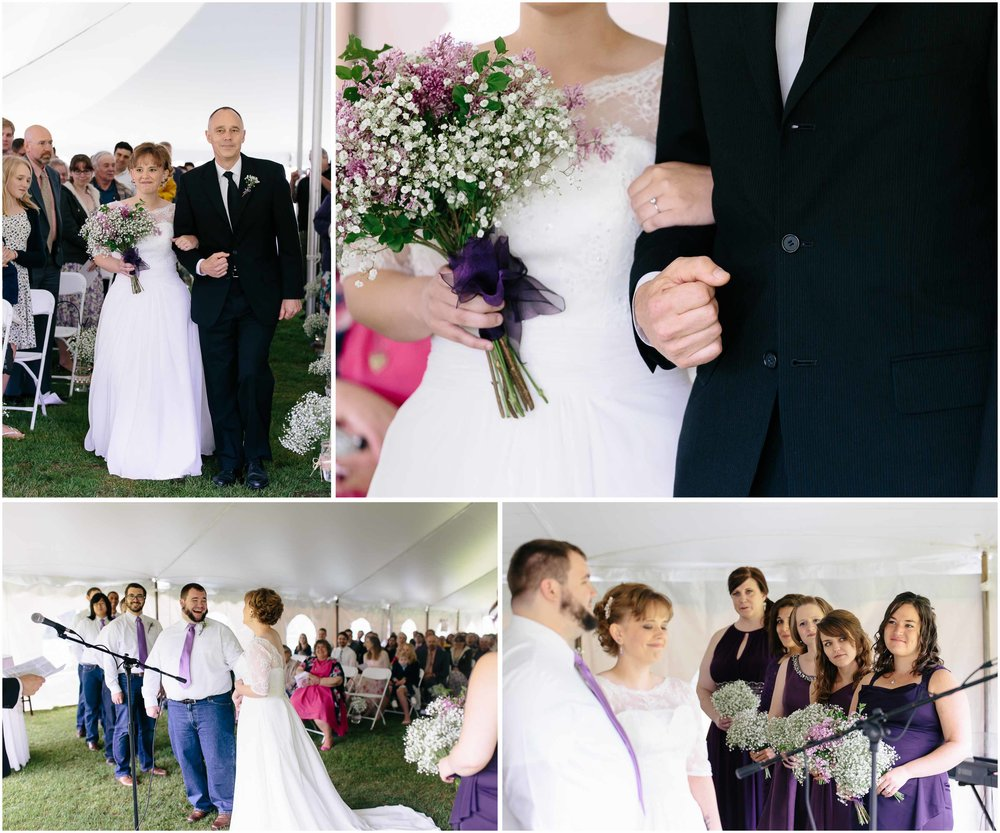 Charming Massachusetts countryside journalistic wedding by Ashleigh Laureen Photography - ceremony, friends, family