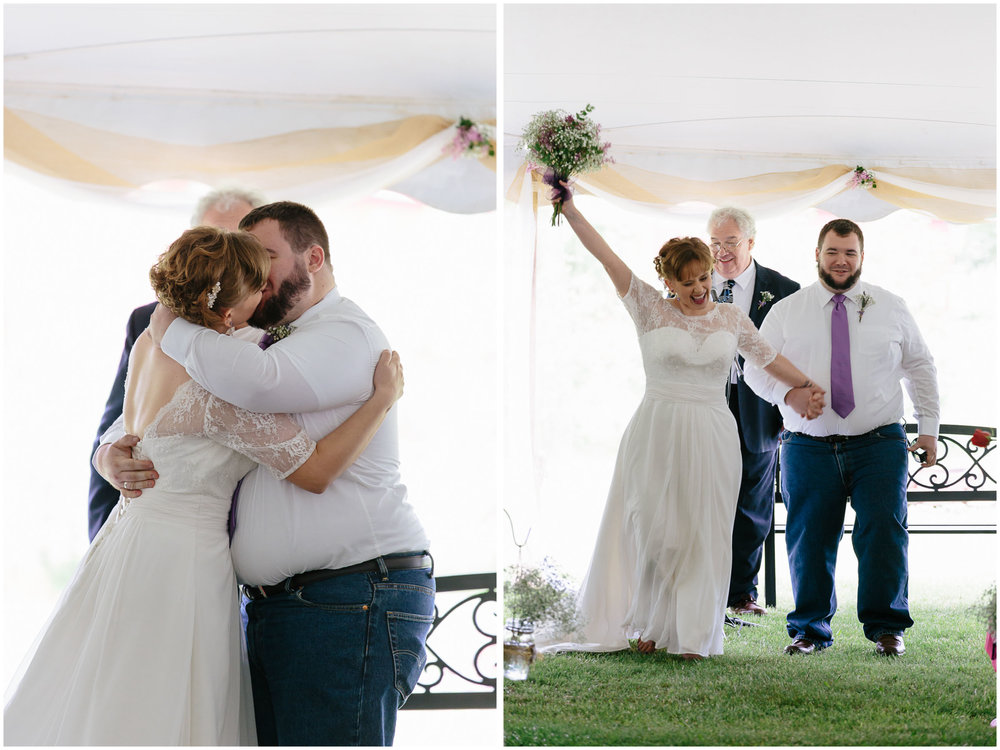 Charming Massachusetts countryside journalistic wedding by Ashleigh Laureen Photography - happy kiss