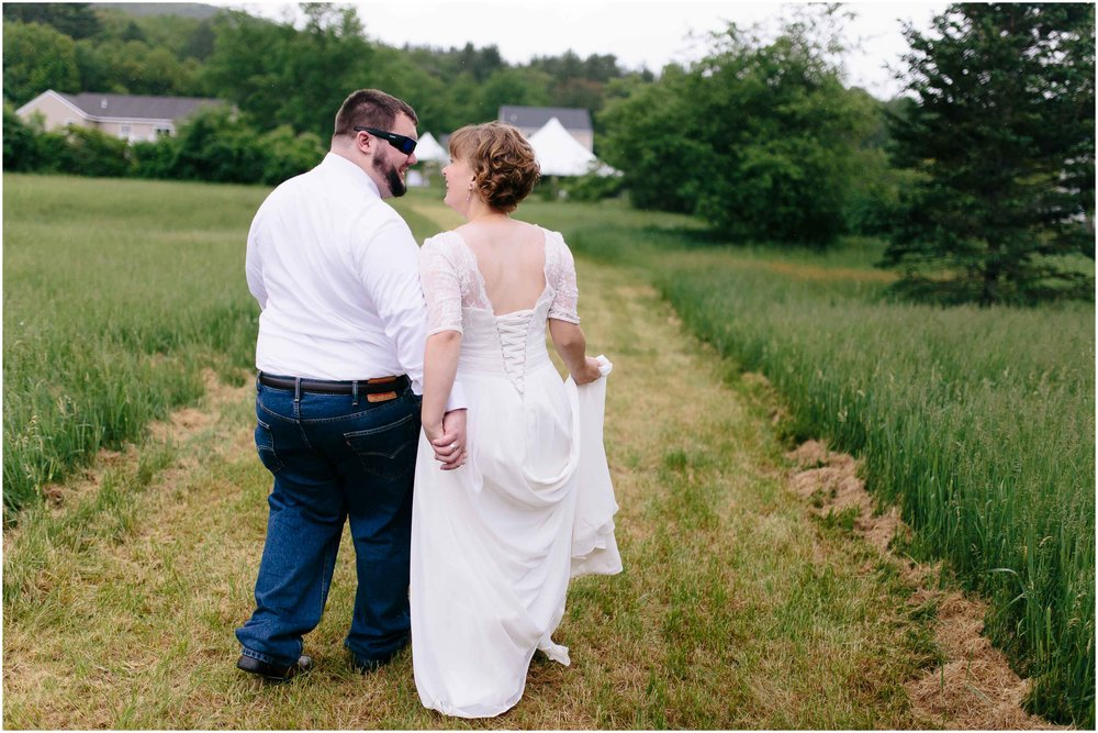Charming Massachusetts countryside journalistic wedding by Ashleigh Laureen Photography - bride and groom