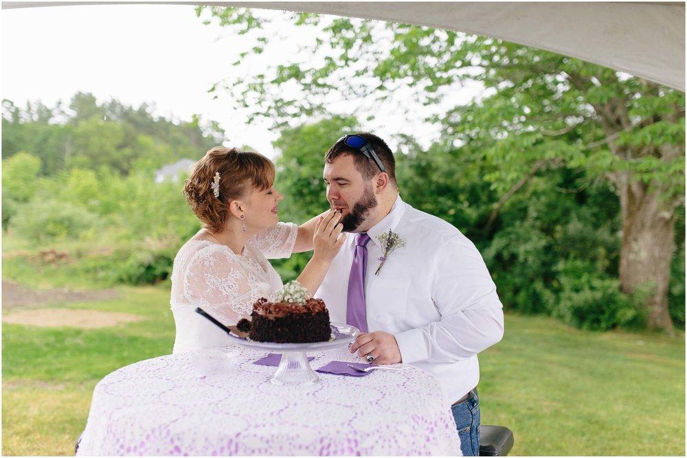 Charming Massachusetts countryside journalistic wedding by Ashleigh Laureen Photography - cake