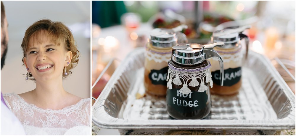 Charming Massachusetts countryside journalistic wedding by Ashleigh Laureen Photography - bride and chocolate