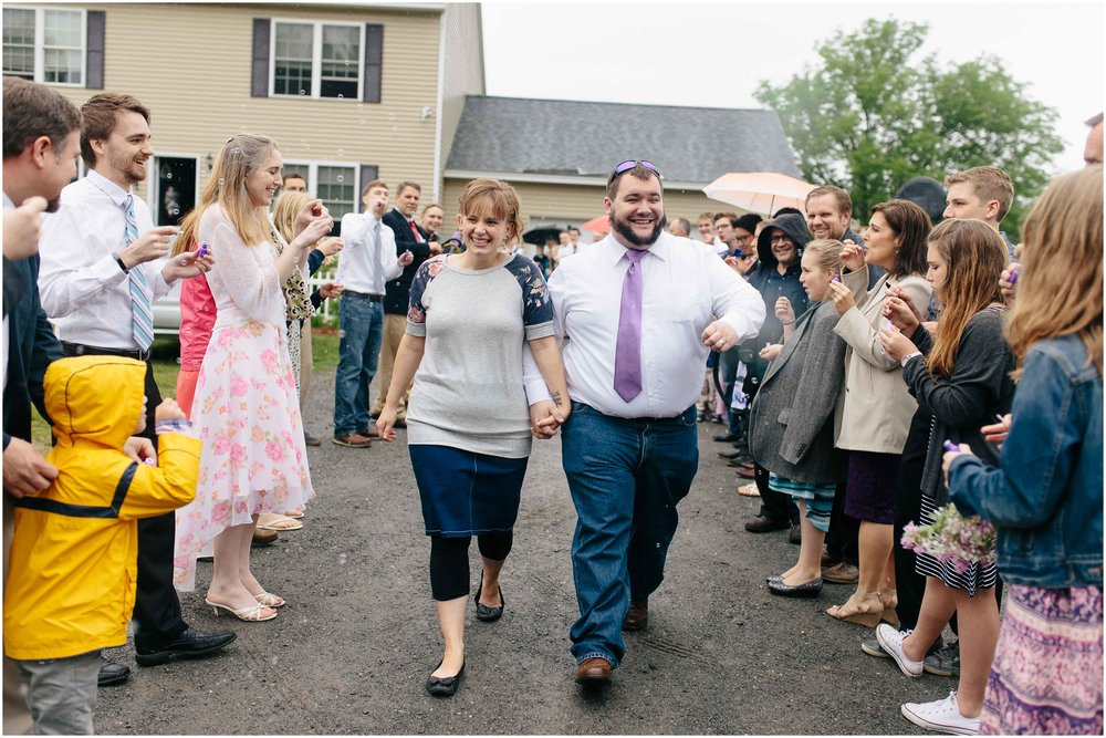 Charming Massachusetts countryside journalistic wedding by Ashleigh Laureen Photography - bride and groom exit