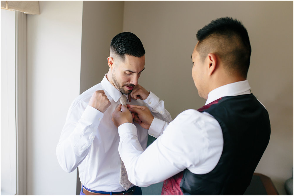 Scenic New Hampshire Wedding at Atkinson Resort and Country Club - Groom and groomsman