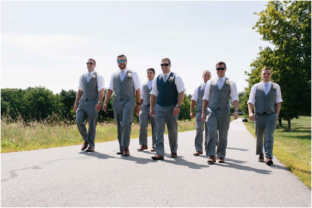 Sunny New Hampshire Summer Wedding at Mile Away Restaurant - groomsmen