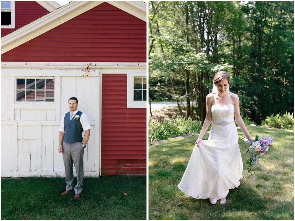 Sunny New Hampshire Summer Wedding at Mile Away Restaurant - bride and groom