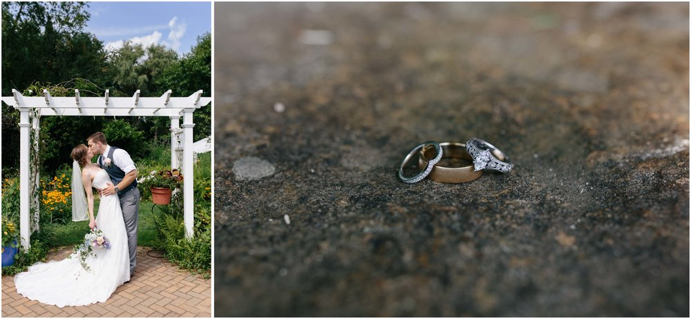 Sunny New Hampshire Summer Wedding at Mile Away Restaurant Milford - bride and groom and rings