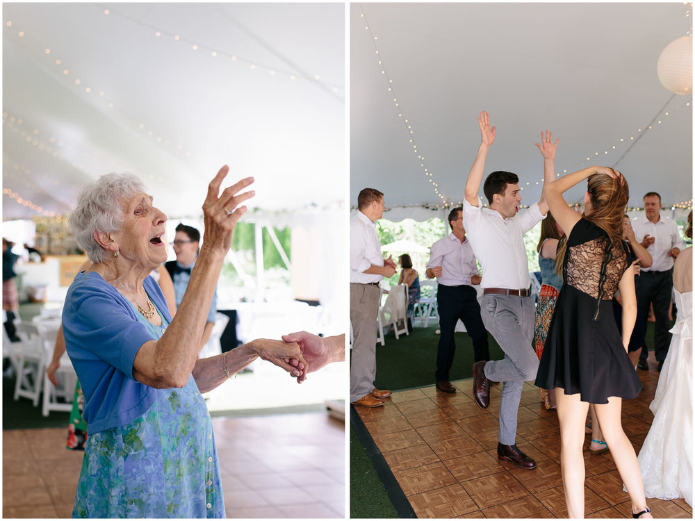 Sunny New Hampshire Summer Wedding at Mile Away Restaurant Milford - dancing
