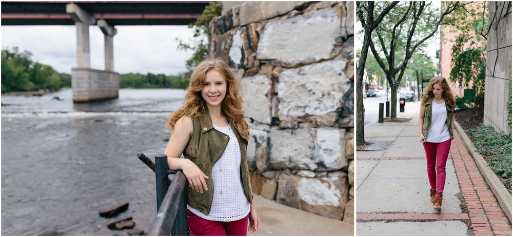 Snazzy and Sassy Senior Session in Downtown Manchester, New Hampshire