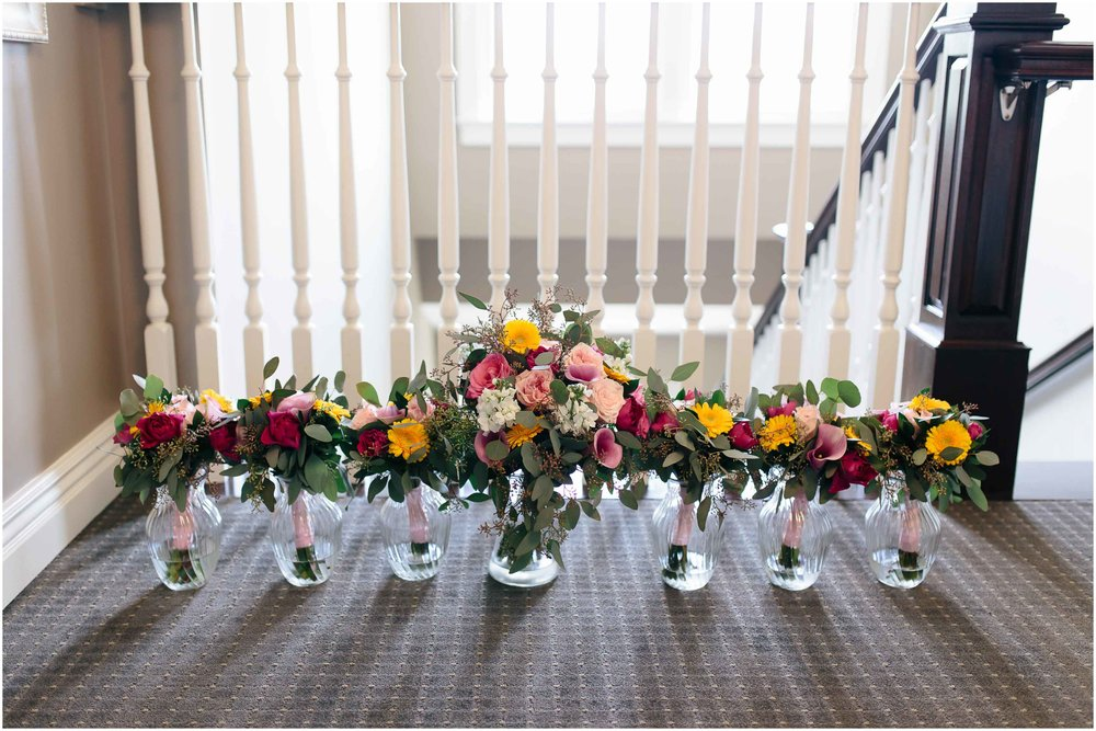 Chic New Hampshire Wedding at Manchester Country Club Bedford - flowers bouquets
