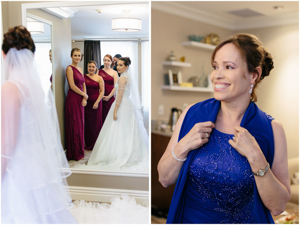 Chic New Hampshire Wedding at Manchester Country Club Bedford - bride and mother