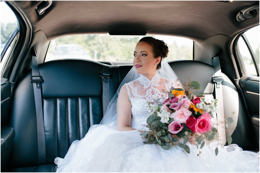 Chic New Hampshire Wedding at Manchester Country Club Bedford - bride