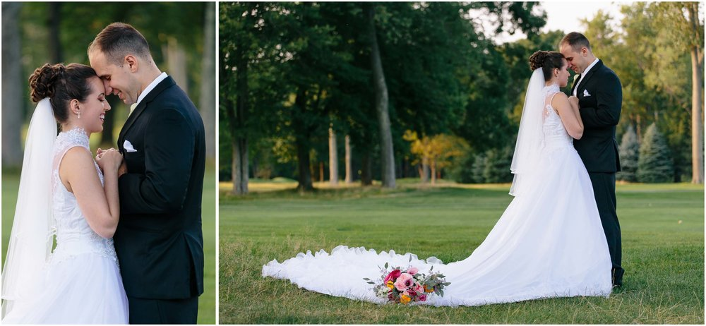 Chic New Hampshire Wedding at Manchester Country Club Bedford - bride and groom