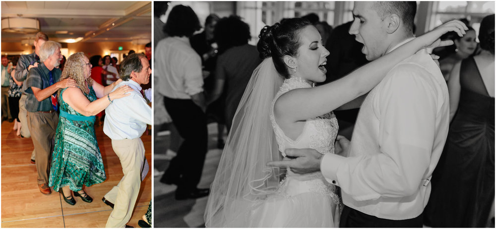 Chic New Hampshire Wedding at Manchester Country Club Bedford - bride and groom dancing