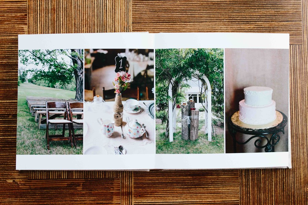 Ashleigh Laureen Photography Journalistic Wedding in New Hampshire, Signature Keepsake Heirloom Album