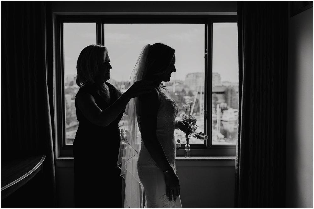 Nautical Massachusetts Jewish Wedding in the Boston Navy Yard bride and mother
