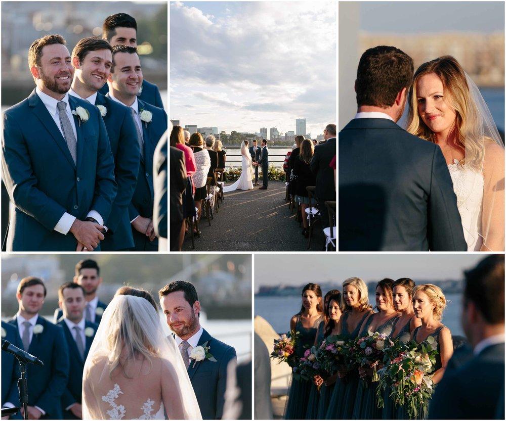 Nautical Massachusetts Jewish Wedding in the Boston Navy Yard ceremony