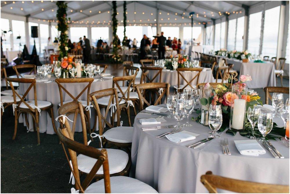 Nautical Massachusetts Jewish Wedding in the Boston Navy Yard reception