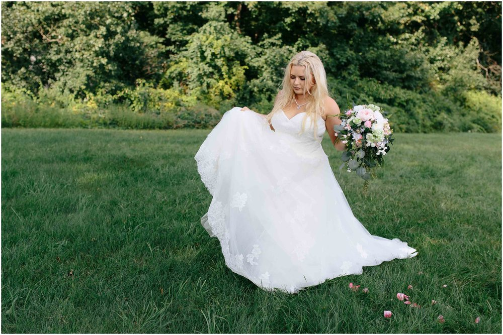 Cozy Country Church Wedding in Pepperell, Massachusetts bride