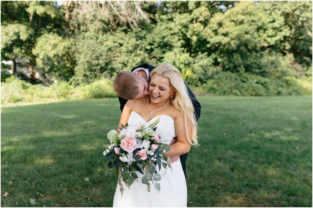 Cozy Country Church Wedding in Pepperell, Massachusetts bride and groom