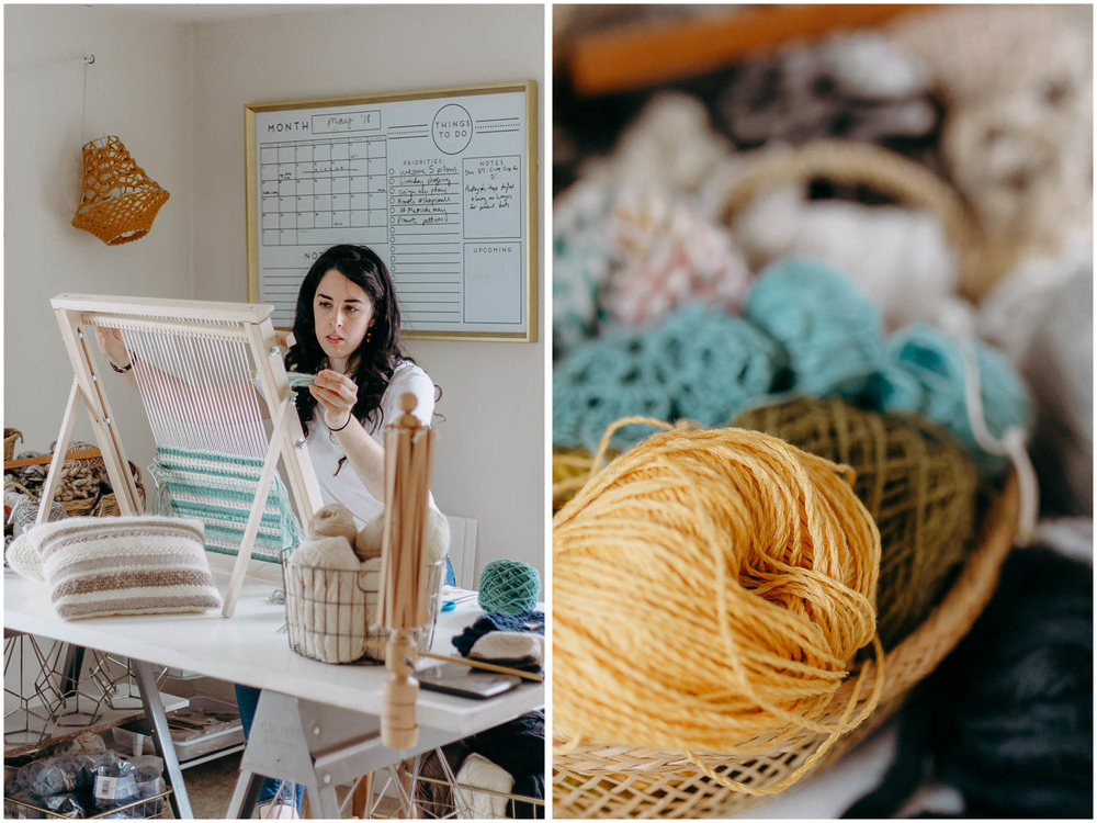Melody Fulone Fiber Artist, Goffstown, New Hampshire Lifestyle Photographer, yarn, weaving