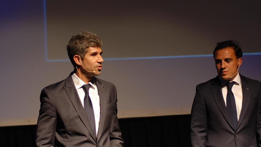 Gabriel Cordo Miranda junto a Pablo Sánchez Liste, ambosex Directoresde Peugeot Argentina.