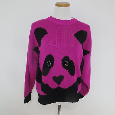 Fuschia Panda Vintage 1980s Sweater