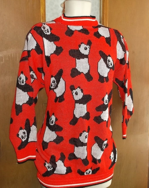 All Over Pandas Vintage Sweater