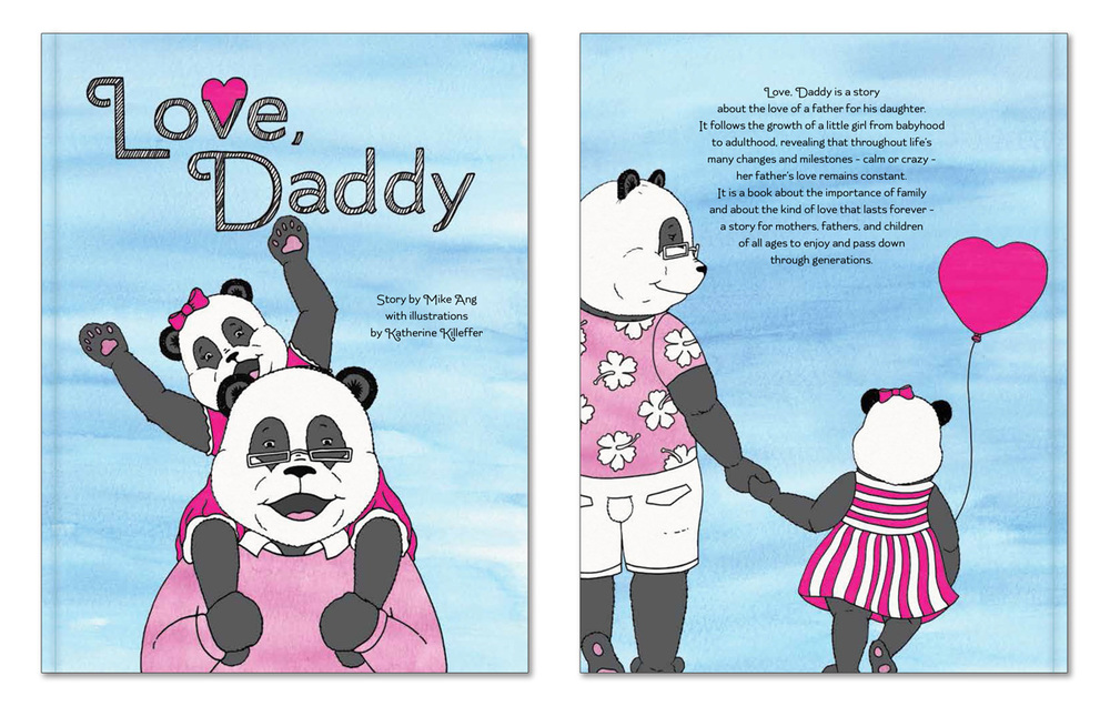 Front and back cover for  Love, Daddy  the book!