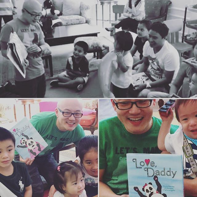 Spent a WONDERFUL day reading to my cousins' children in Manila, Philippines. Feeling blessed to spread the Panda Love across generations and all across the world! Special props to my #1 Fan, Nate THE GREAT! #fatherhood #kidlit #kidlitchat #family #generations #panda #storytelling