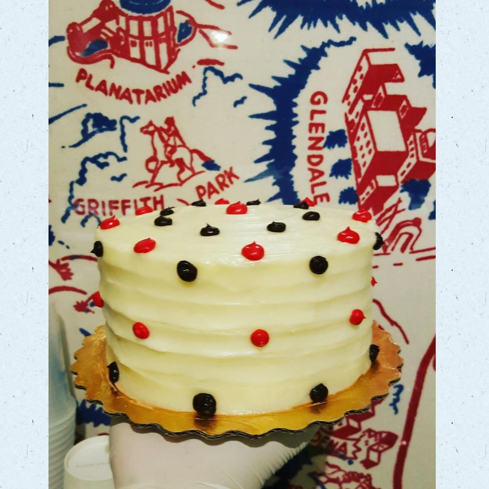 Classic Red Velvet Polka Dot Cake