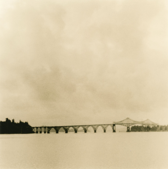 Joan Bowers,  Coos Bay Bridge , 2013  Litho print photograph  8 x 7.9 in.  $300  Courtesy of Gallery North, Edmonds, WA