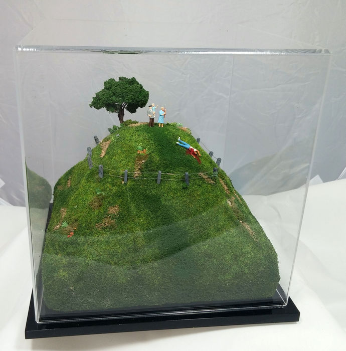 Abigail Goldman,  Short Cut , 2015  Plastics, acrylic, polystyrene  8 x 8 x 8 in.  $800