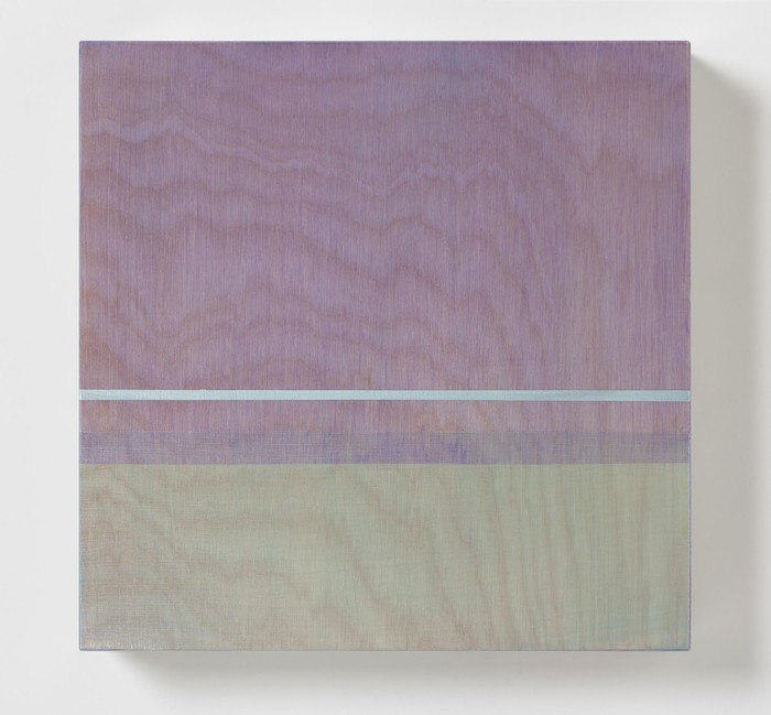 Rose Olson,  Northern Lights , 2014  Acrylic on maple  10 x 10 x 2 in.  $750