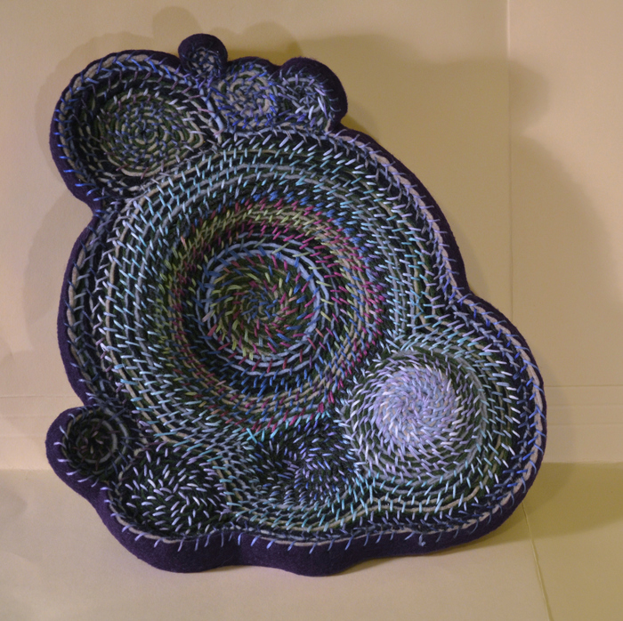 Amy Rader,  Entwine , 2015  Felt, embroidery, floss  10 x 10 x 2 in.  $200