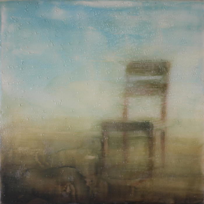 Brian Sostrom,  Waiting Chair , 2015  Acrylic  10 x 10 in.  $250