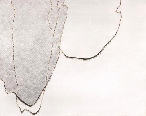 Melissa Walter, people iv, 2015  Brass, silverpoint, gouache  7.75 x 9.75 in.  $350
