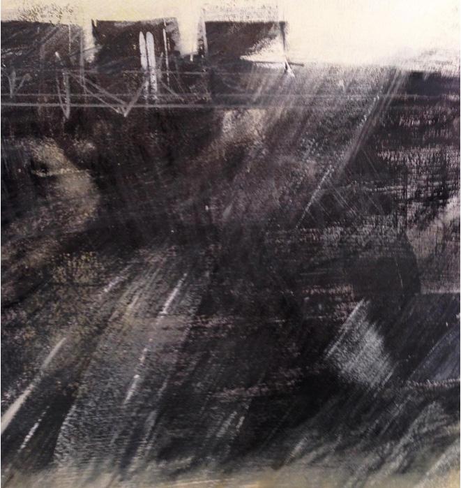 Anita Lehmann   Rural , 2013  Pastel, sumi ink, gesso