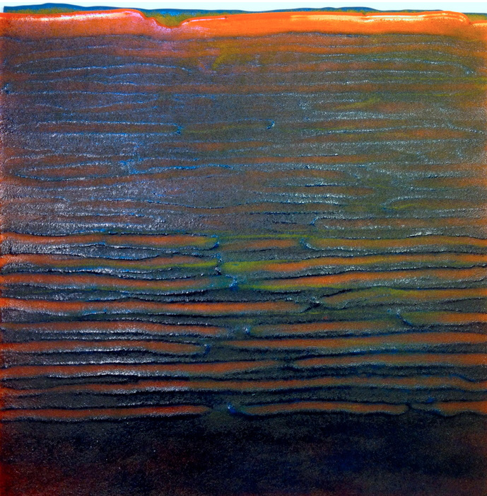 Carol Carson   Orange Waters , 2013  Kiln formed glass